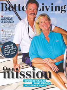 Better Living: On A Mission - cover story about Tim & Jan's sailing passion (Key Sailing Sarasota)