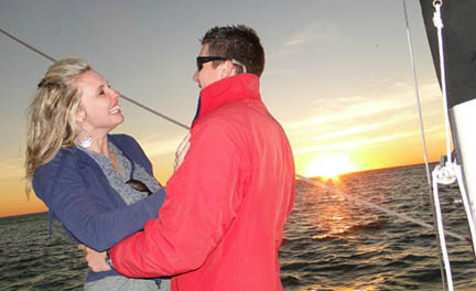 There are many opportunities during a sunset sail with Key Sailing Sarasota