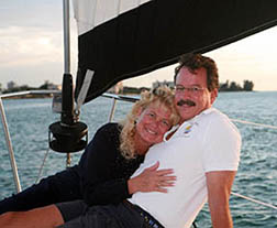 U.S. Coast Guard Master Captain Tim and First Mate Jan have been sailing together for four decades