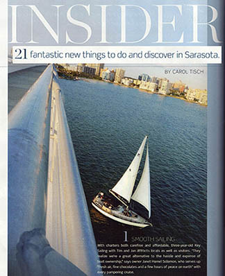 Sarasota Magazine rated Key Sailing as the #1 fantastic new things to do and discover in Sarasota in 2011